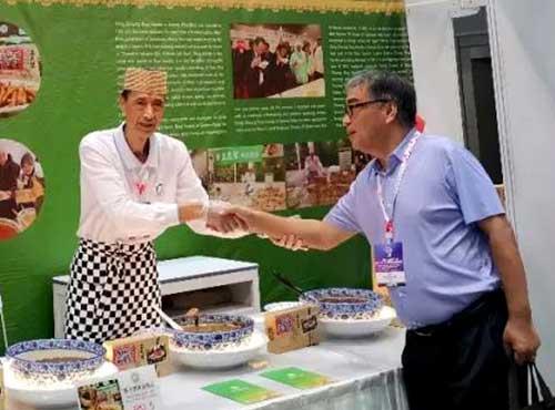 """盛志望麻酱酿皮铺参加马来西亚 2019""""一带一路""""陕西商品展览会.."""