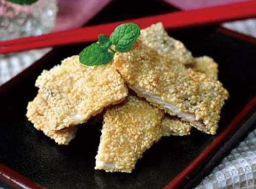 清真传统菜|芝麻鱼片